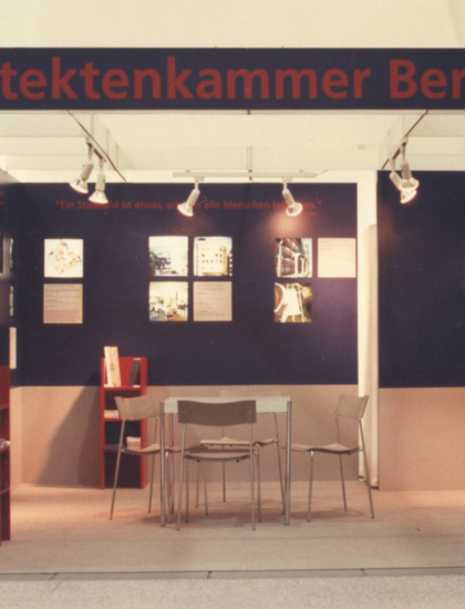 Messestand der Architektenkammer Berlin